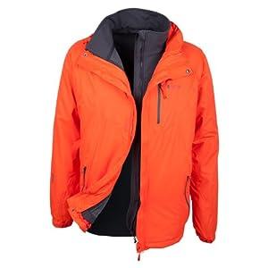 41NI5oT0GBL. SS300  - Mountain Warehouse Bracken Extreme Mens 3 in 1 Waterproof Jacket - Adjustable Mens Coat, Warm Rain Jacket, Headphone Compatible Outerwear - for Autumn Camping, Walking