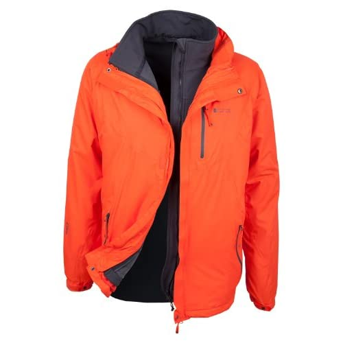 41NI5oT0GBL. SS500  - Mountain Warehouse Bracken Extreme Mens 3 in 1 Waterproof Jacket – Adjustable Mens Coat, Warm Rain Jacket, Headphone…