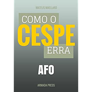 Como o Cespe erra: AFO (Teste-A-Prova Livro 8) (Portuguese Edition)