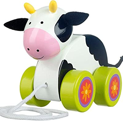 Orange Tree Toys Cow Pull Along