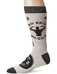 K. Bell Socks Men's NO Pain NO Gain, Gyhtr, Shoesize 6 to 12