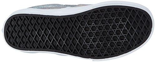 Vans U CLASSIC SLIP-ON Unisex-Erwachsene Sneakers Mehrfarbig ((Matte Iridescent) silver)