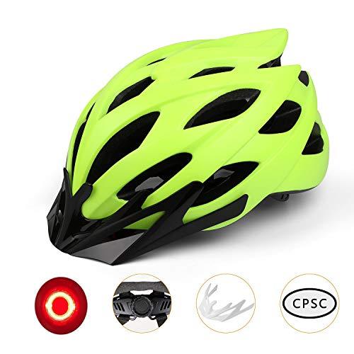 Kinglead - Casco de Bicicleta con luz LED