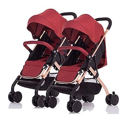 El cochecito de bebé gemelo se puede sentar y el cochecito de bebé doble desmontable del dragón plegable de la luz y Phoenix segundo bebé