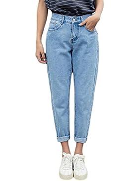 NUEVO Slim Pencil Pants Vintage High Waist Jeans Nuevo Women Pantalones sueltos Cowboy Pants