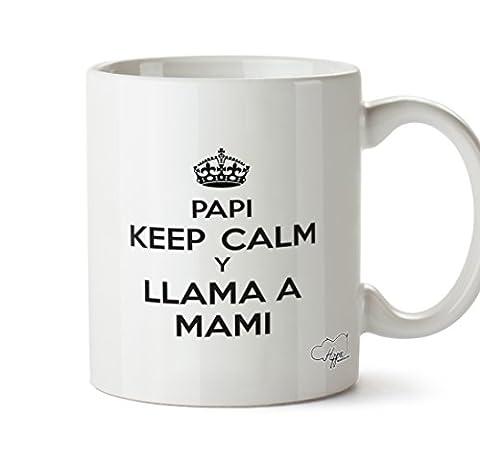 hippowarehouse Papa Keep Calm und Ring Mama 283,5Tasse, keramik, weiß, One Size (10oz)