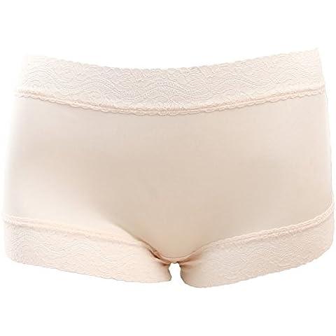 Comfort leggera traspirante mutandine di seta/Mutandine di pizzo sexy/ Fanny Pack anca ladies boyshort in
