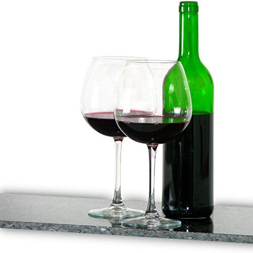 2 Stück sehr große 0,78 Liter Weingläser XXL, Weinglas, Rotwein Glas, Burgunderglas groß