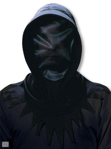 schwarze Netz Phantom Maske (Kostüme Geist Ninja Halloween)
