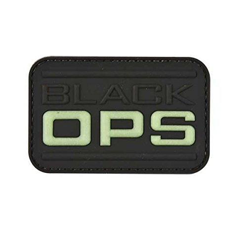 Combat Airsoft PVC Moral Patch Black Ops Velcro Backed Flash