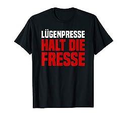 Halt Die Fresse Lügenpresse Gegen Fake News Stop Lügenpresse T-Shirt