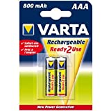 VARTA Akku, 2 Stück, NiMH Longlife, Micro (AAA/HR03) 800mAh, 1,2Volt