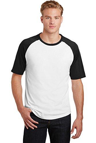 Colorblock Raglan-jersey-shirt (Sport-Tek® Short Sleeve Colorblock Raglan Jersey. T201 White/ Black 2XL)