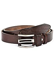 BuckleUp Mens Brown Leather Formal Belt