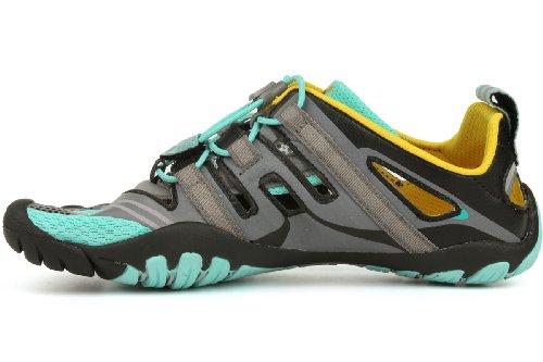 Vibram Fivefingers  Trekking Light/Running 13W4304 Treksport Sandal, Damen Laufschuhe Grau/Blau/Schwarz