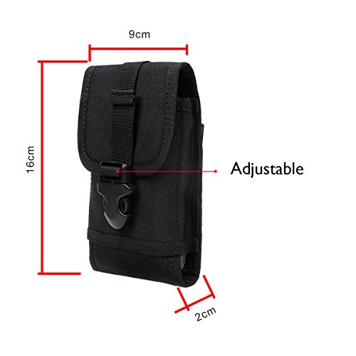 xhorizon(TM)MW8 1000D NylonArmee Camo TouchDienstTactical MOLLE UniversalMultifunktionsgürteltasche Holster für Multi Handy Modell #B6 Camouflage Khaki