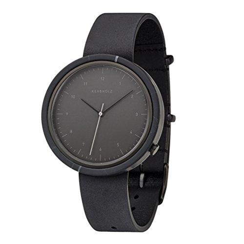 Kerbholz Herren Analog Quarz Uhr mit Leder Armband 4251240404073