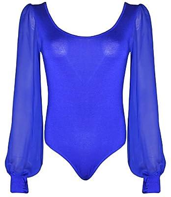 Ladies Chiffon Sleeves Leotard Body Suit