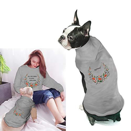 Parent-Pets Kleidung Mama & Hunde Sweatshirt Cool für Haustierbesitzer und Haustiere Familie Kleidung Outfits Eltern, Haustiere Passende Hemd Kapuzenpullover, Pets-L, Pets-Gray - Kleidung Freund Passende