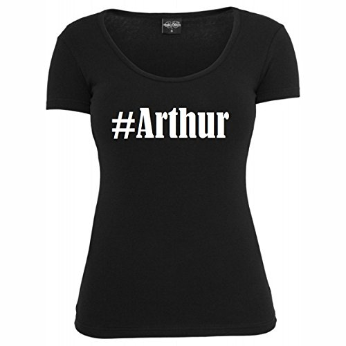 T-Shirt #Arthur Hashtag Raute für Damen Herren und Kinder ... in den Farben Schwarz und Weiss Schwarz