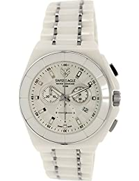 Swiss Eagle Reloj de cuarzo Man Dive Blanco 46 mm