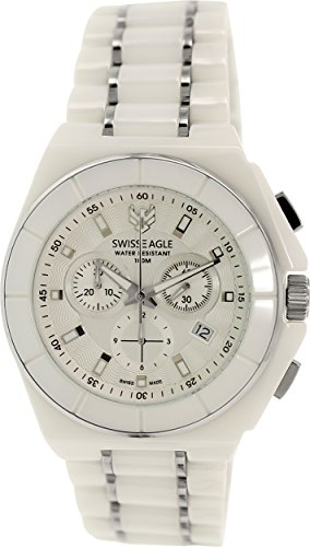 Swiss Eagle SE-9053-11 Polar King  - Wristwatch men's, Ceramic, Band Colour: White