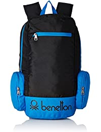 United Colors of Benetton 22 Ltrs Black Casual Backpack (16A6BAGT7010I)