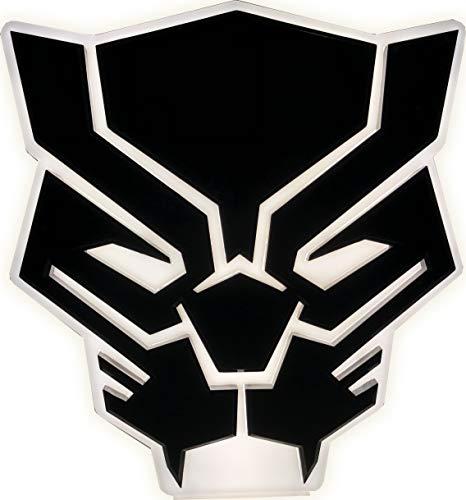 Ukonic Marvel Avengers Endgame Black Panther Mood Light Lampe de Bureau 3D Veilleuse Super-héros Lampe de Bureau Décor