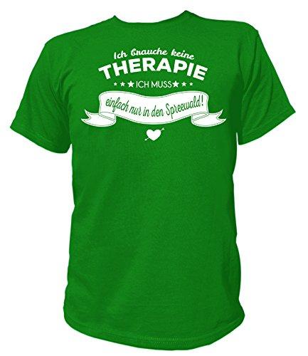 Artdiktat Herren T-Shirt Ich brauche keine Therapie - Ich muss einfach nur nach Santorin Grün