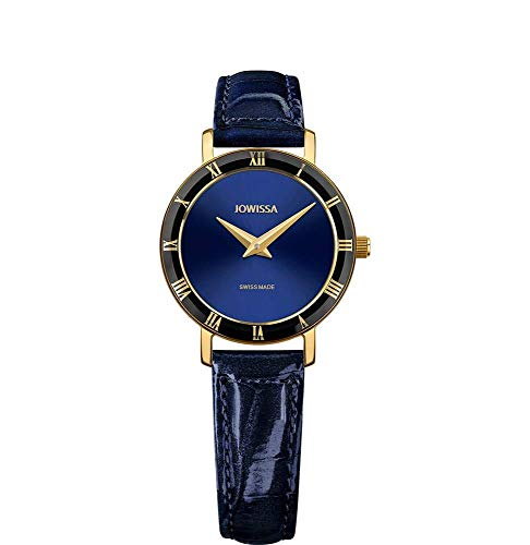 Jowissa Roma Swiss J2.271.S - Reloj de Pulsera para Mujer, Color Azul y Dorado