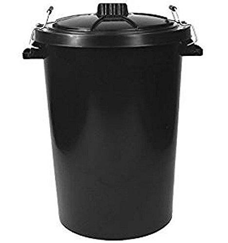 Cubo de basura color negro de 85 L de Robert Scott