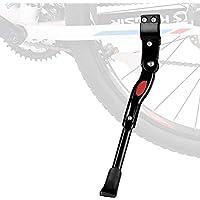 "SOULBEST Pata de Cabra para Bicicleta - Aluminio Soporte Ajustable del Retroceso de Bici Caballete Bicicleta con Llave Hexagonal y Campana de Bicicleta 22""- 28"" (Negro-A)"