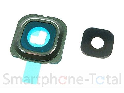 NG-Mobile Kameralinse Kamera Fenster Glas Scheibe Abdeckung + Rahmen für Samsung Galaxy S6 Edge SM-G925F Grün/Schwarz