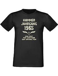 Sprüche Fun T-Shirt Jubiläums-Geschenk zum 52. Geburtstag Hammer Jahrgang 1965 Farbe: schwarz blau rot grün braun auch in Übergrößen 3XL, 4XL, 5XL