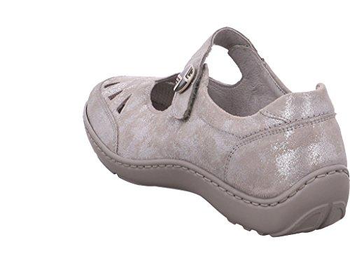 Waldläufer 496309-145-070, Ballerine donna Grigio