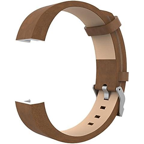 Accessori classici per Charge 2, Wearlizer Lux Cinturino di ricambio sportivo in vera pelle per Fitness Tracker Fitbit Charge 2 -