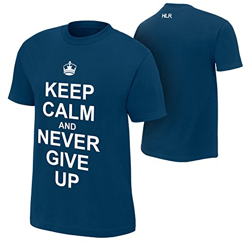 Brandsoon Men's WWE Cotton Round Neck Blue Ruber Print M Size T-shirt( John Cena Print)  available at amazon for Rs.422