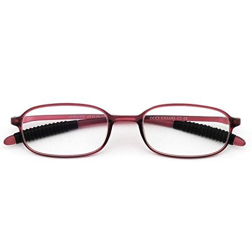 OCCI CHIARI W-COCORO Ovale Occhiali da vista montatura con cerniera a molla e lenti chiare per donna (viola 51MM) ZFO6Lpe