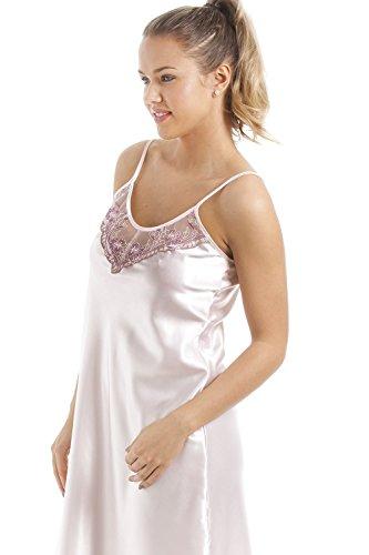 Camille - Ensemble chemise de nuit et robe de chambre - femme - satin - roset Rose