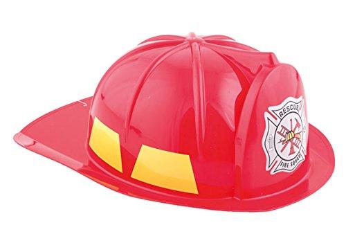 Halloweenia - Feuerwehrhelm - Feuerwehr Zubehör Helm Kostüm, Rot (Kostüm Halloween Feuerlöscher Accessoire)