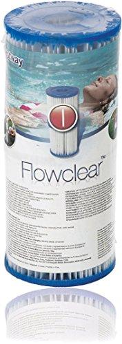 Bestway Flowclear Filterkartuschen Gr.I  8x9 cm, 2er-Set