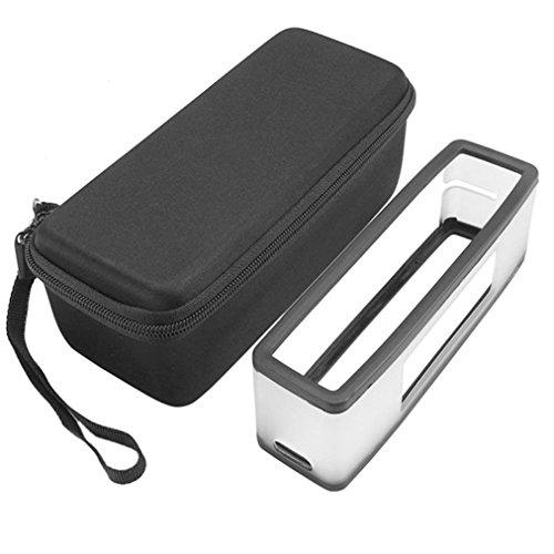 kingko® Soft Cover + Aufbewahrungsbox Tasche für Bose Soundlink Mini III 2 Bluetooth Lautsprecher (Schwarz)