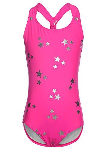Rosa Badeanzug für Mädchen,Bandage Bademode Süß Drucken Baby Anzug Größe XL