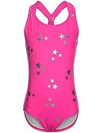 OUO Badeanzug für Mädchen,Bandage Bademode Süß Drucken Baby Anzug 023