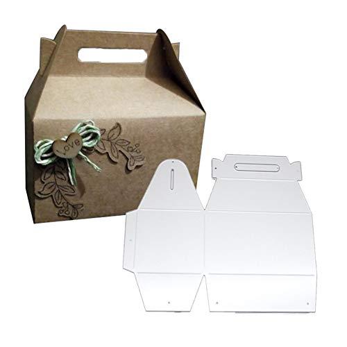 Huhuswwbin Metal Cutting Scrapbooking Cutting Dies,S¨¹?igkeiten Geschenkbox Metall Stanzformen DIY Scrapbooking Papierkarten Punch Schablone - Silber, Pr?gewerkzeug -