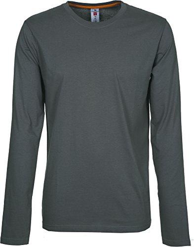 T-Shirt Da Lavoro Maglietta Manica Lunga In Cotone Girocollo Payper Pineta, Colore: Smoke, Taglia: M