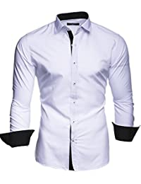 KAYHAN Homme Chemise Slim Fit Repassage facile, Manches Longues Modell - Twoface