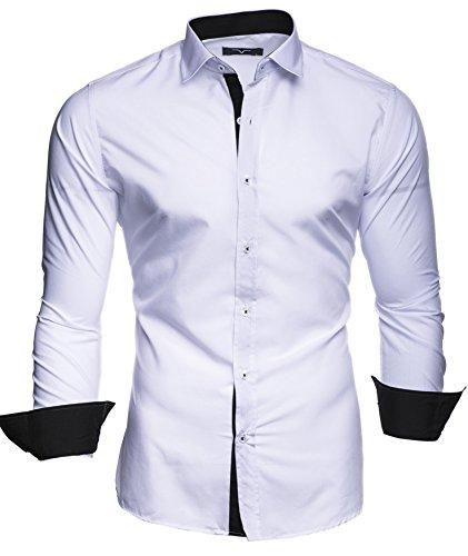Kayhan uomo camicia, twoface white m