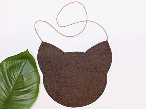 Piñatex® Katze, braune Tasche aus Ananasfaser - 2