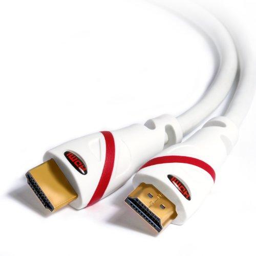 1,5m - Ultra HD 4k HDMI Kabel | High Speed with Ethernet | Kabel 3 fach geschirmt / inkl. Stecker- und Kontaktschirmung | 4K Ultra HD 2160p bei 60 Hz / Full HD 1080p | 3D / ARC / CEC | weiß